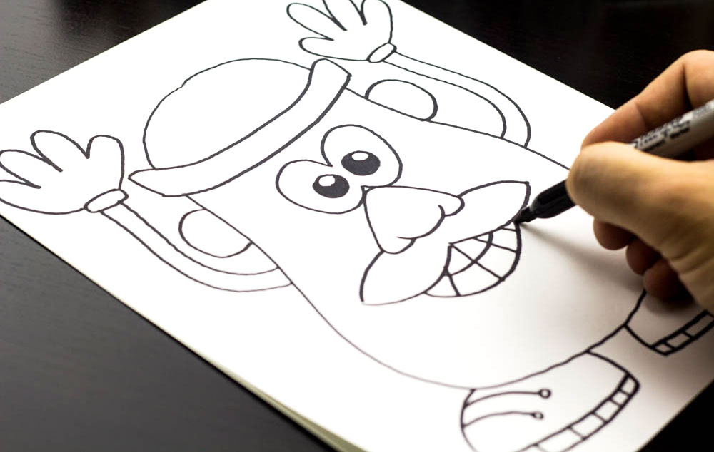 1000x634 how to draw mr potato head from art for kids awesome and easy
