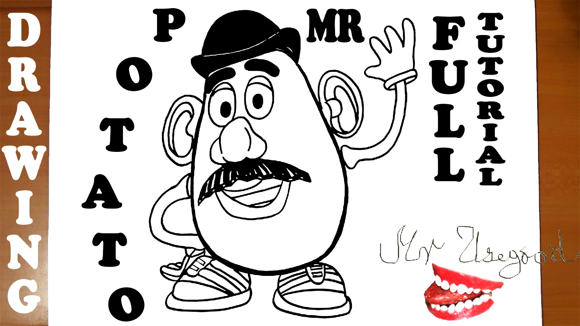 1920x1080 Mr Potato Head Drawing How To Draw Mr Potato Head Toy Story
