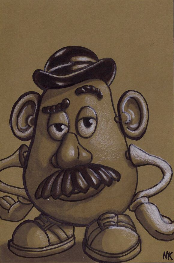 580x879 Mr. Potato Head Sketch Art Idea Board Mr Potato
