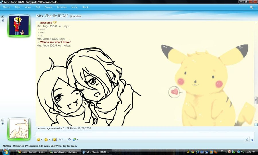 900x540 Msn Drawing Charlie And Angel By Pinayflavored