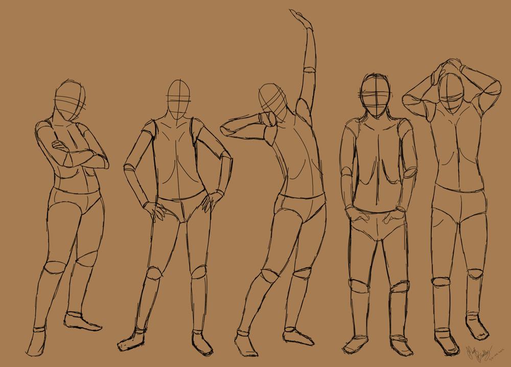 1000x719 Standing Poses By Tastyoranges