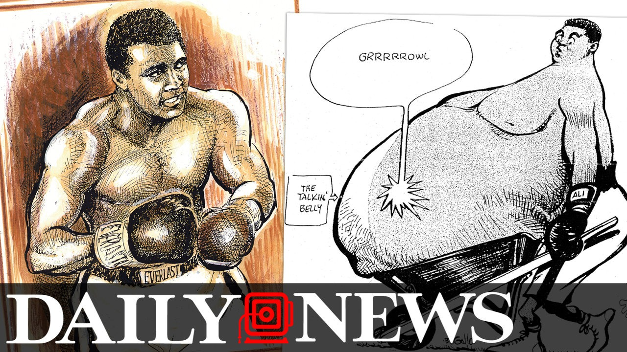 1280x720 Drawing The Champ Daily News Cartoonist Bill Gallo On Drawing
