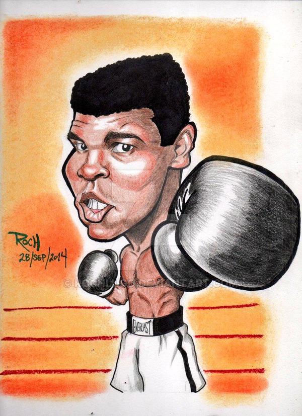 600x827 Muhammad Ali Cassius Clay By Rochlugo