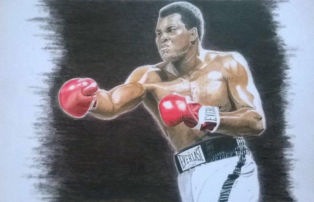 1024x658 Muhammad Ali Colour Figure Drawing Final By Johanne Climaco