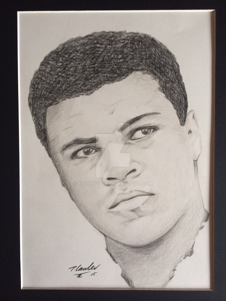 774x1032 Muhammad Ali Pencil Drawing By Billyboyuk