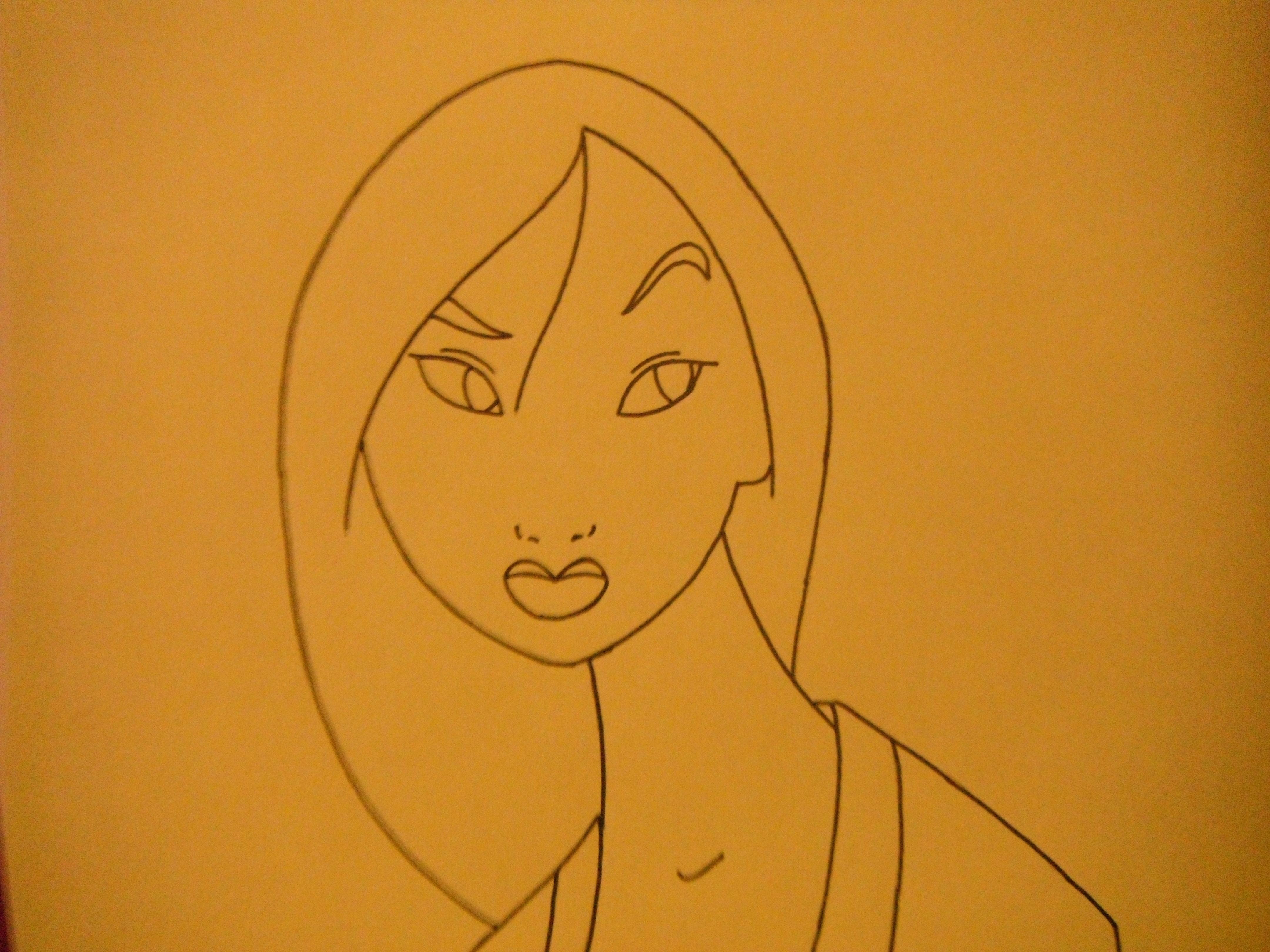 Mulan Coloring Pages Pdf : Mulan drawing at getdrawings free for personal use mulan