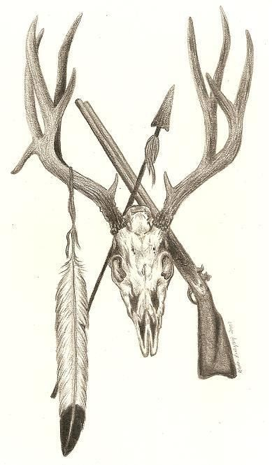 389x665 Deer skull tattoo pics Mule Deer Skull Design In Commisioned