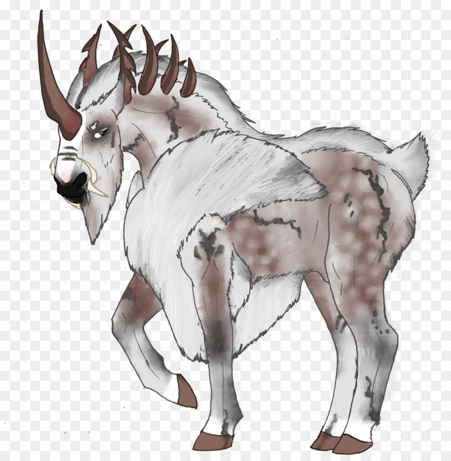 900x920 Cattle Horse Goat Mule Drawing