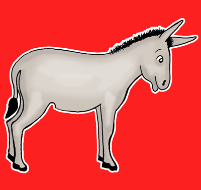 400x378 How To Draw Cartoon Donkeys Amp Mules With Simple Steps Lesson How