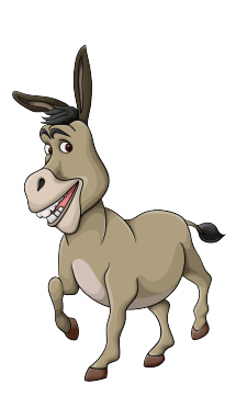 215x382 How To Draw A Donkey, Shrek, Movie Characters, Easy Step By Step
