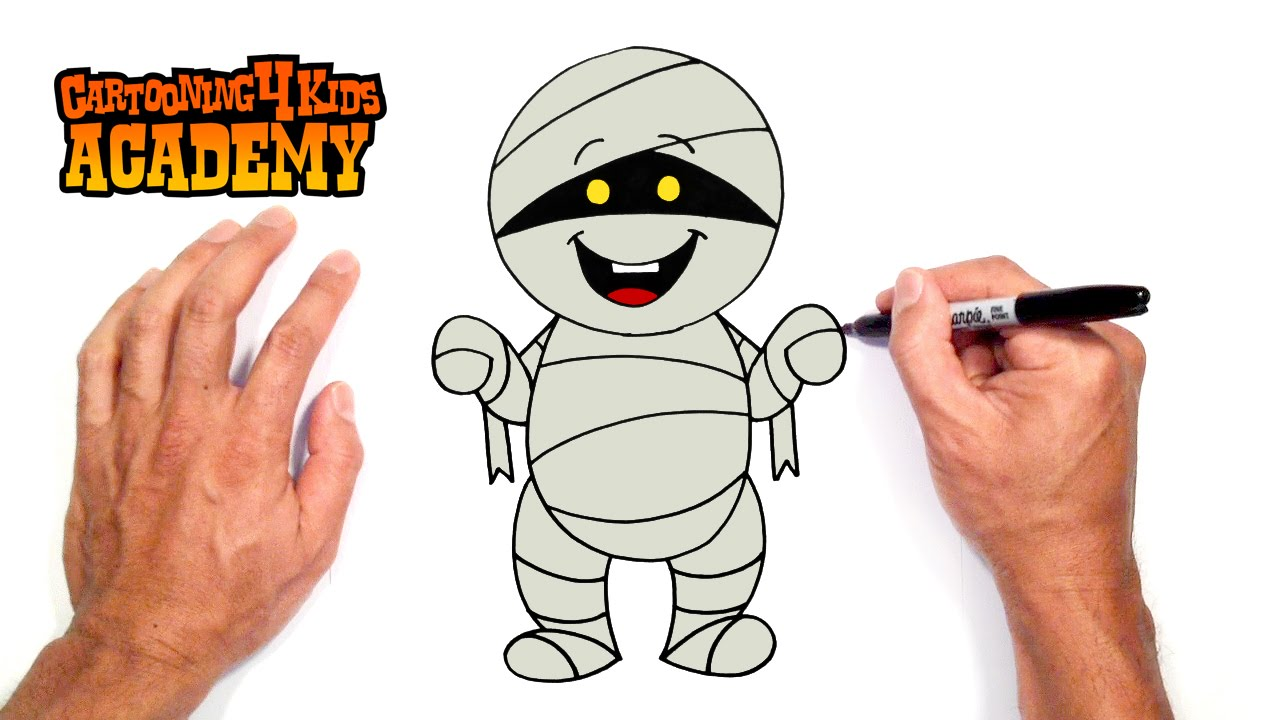 1280x720 How To Draw A Halloween Mummy Art For Beginners