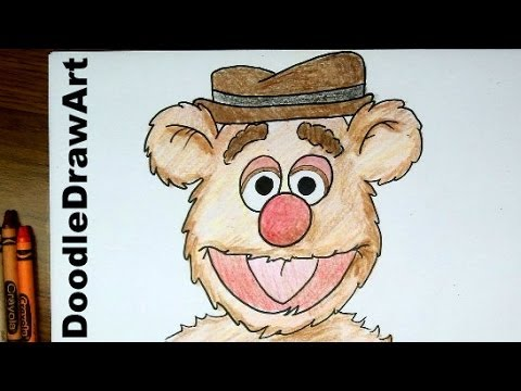 480x360 Drawing How To Draw Fozzy Bear From The Muppet Show
