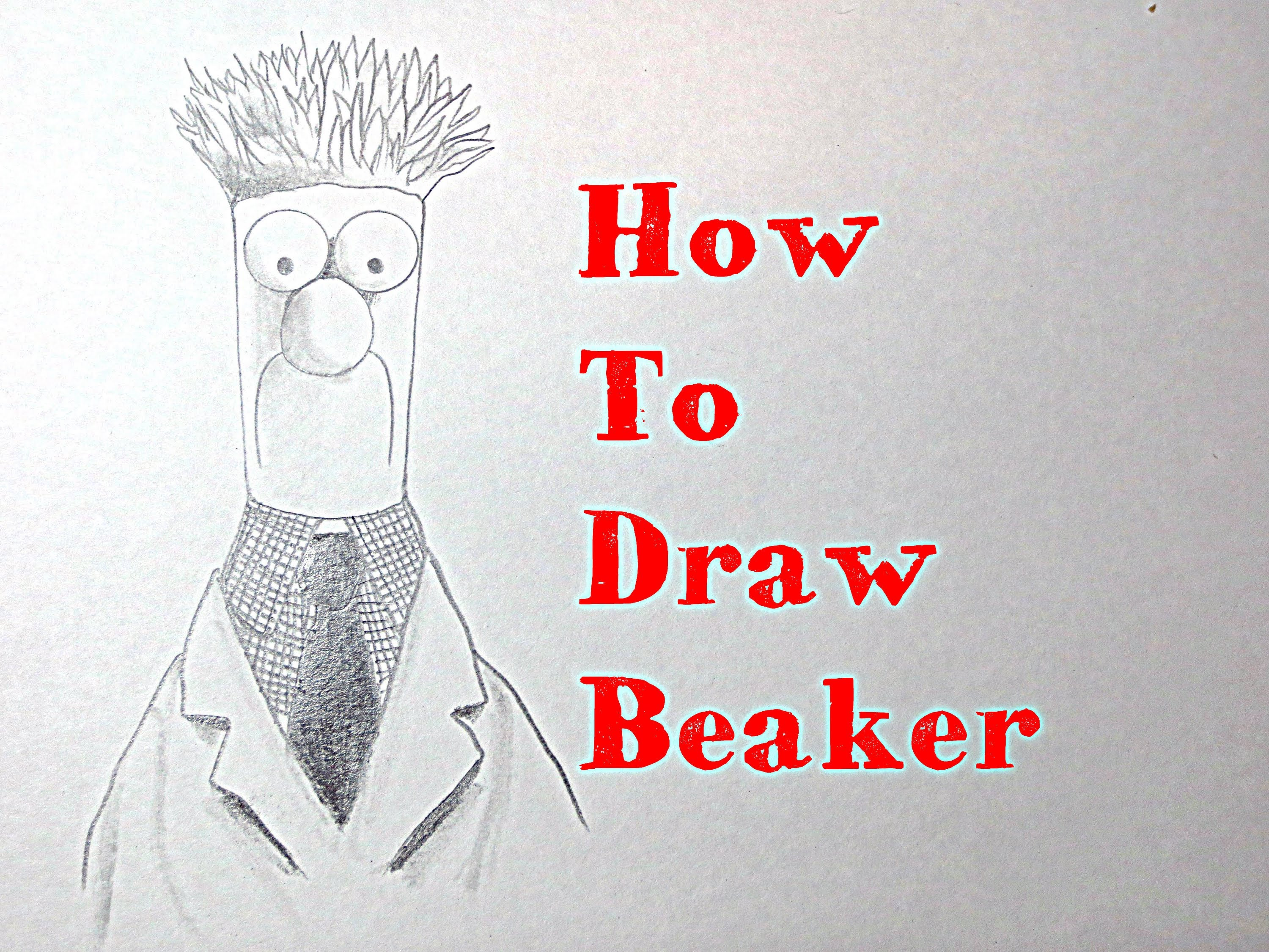 3000x2250 How To Draw Beaker From The Muppets