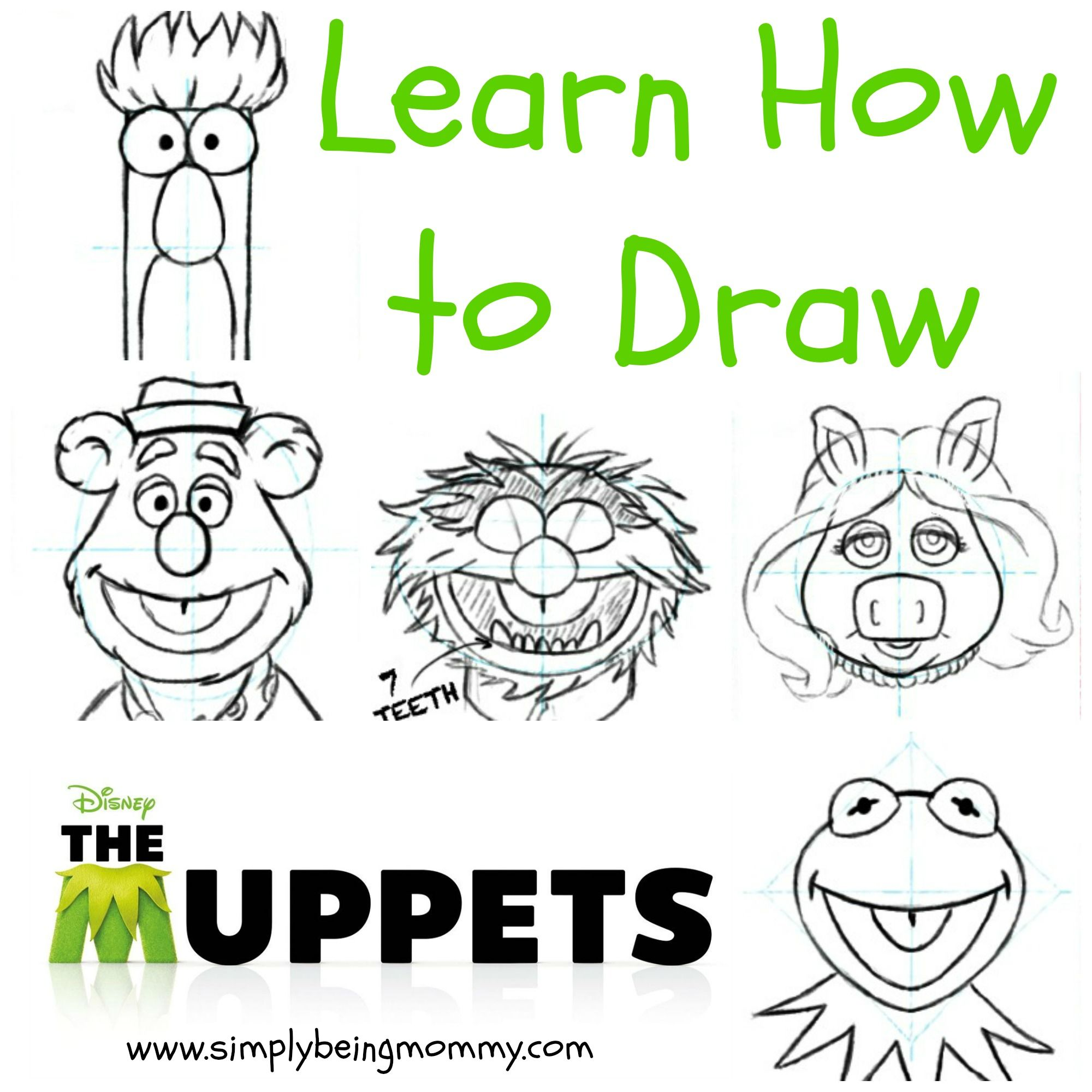 2000x2000 How To Draw The Muppets Drawings, Doodles And Craft