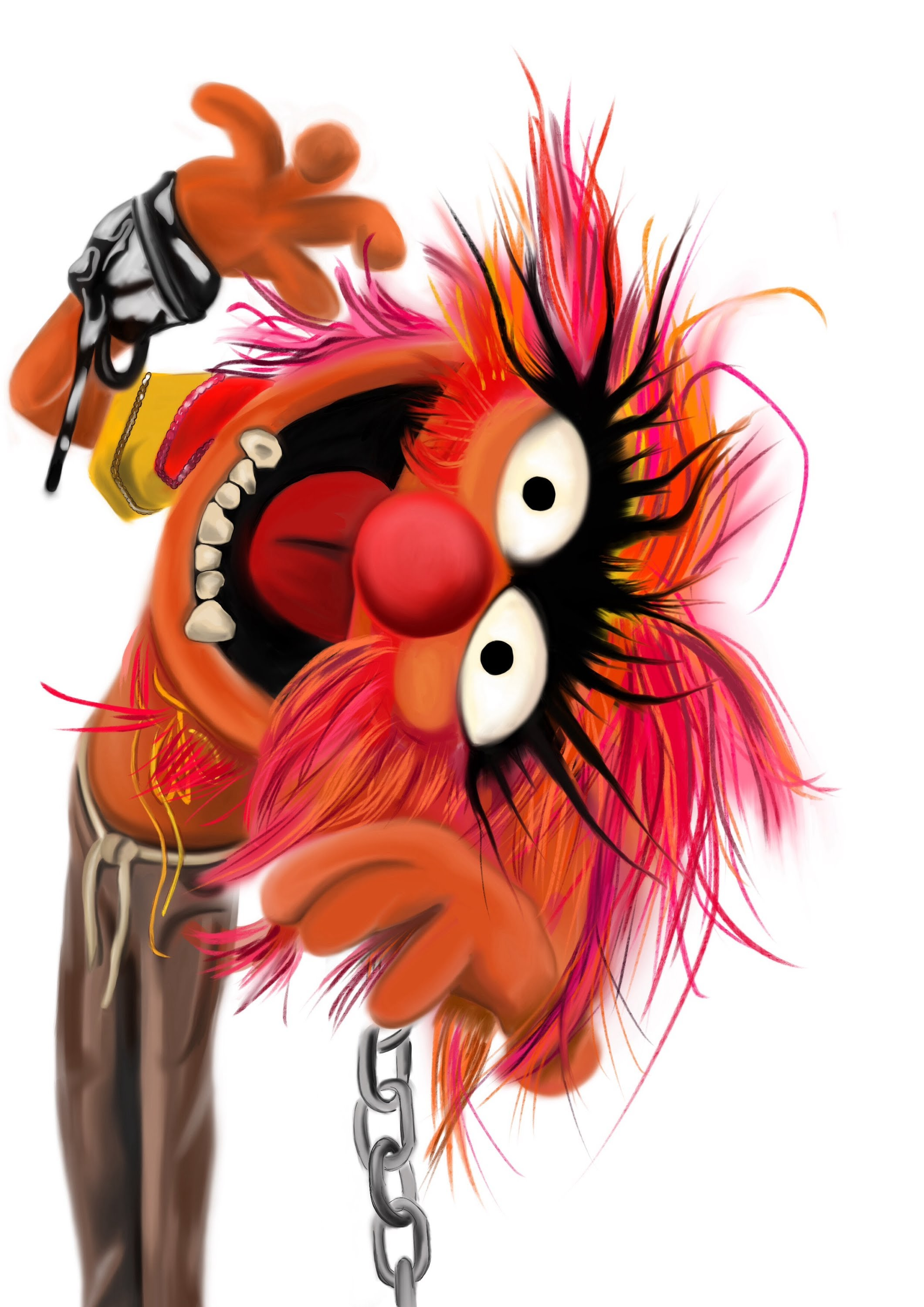2121x3000 The Muppets Animal. Sketching On Ipad By Maria Araghouna