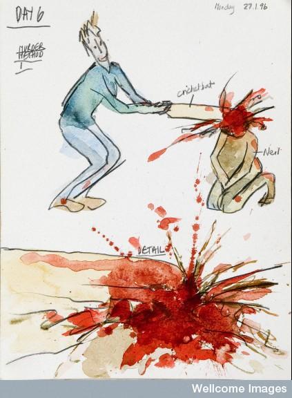 423x576 Murder Method 1 (Bobby Baker's Diary Drawings Via Wellcome Trust