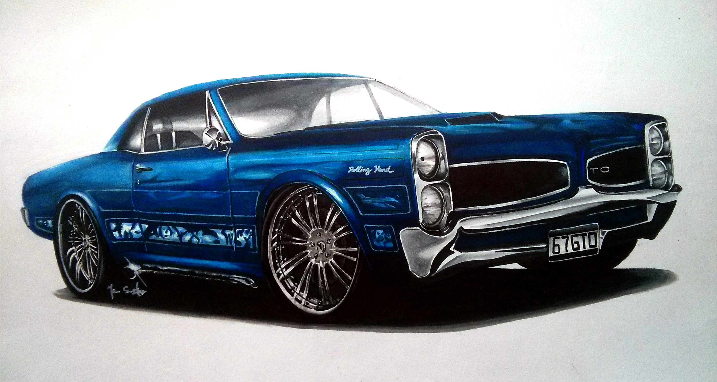 Muscle Car Drawing at GetDrawings.com | Free for personal use Muscle ...