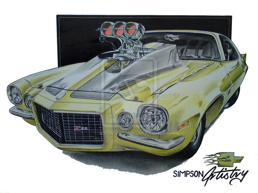 900x675 Cool Muscle Car Drawings Creative Commons Attribution