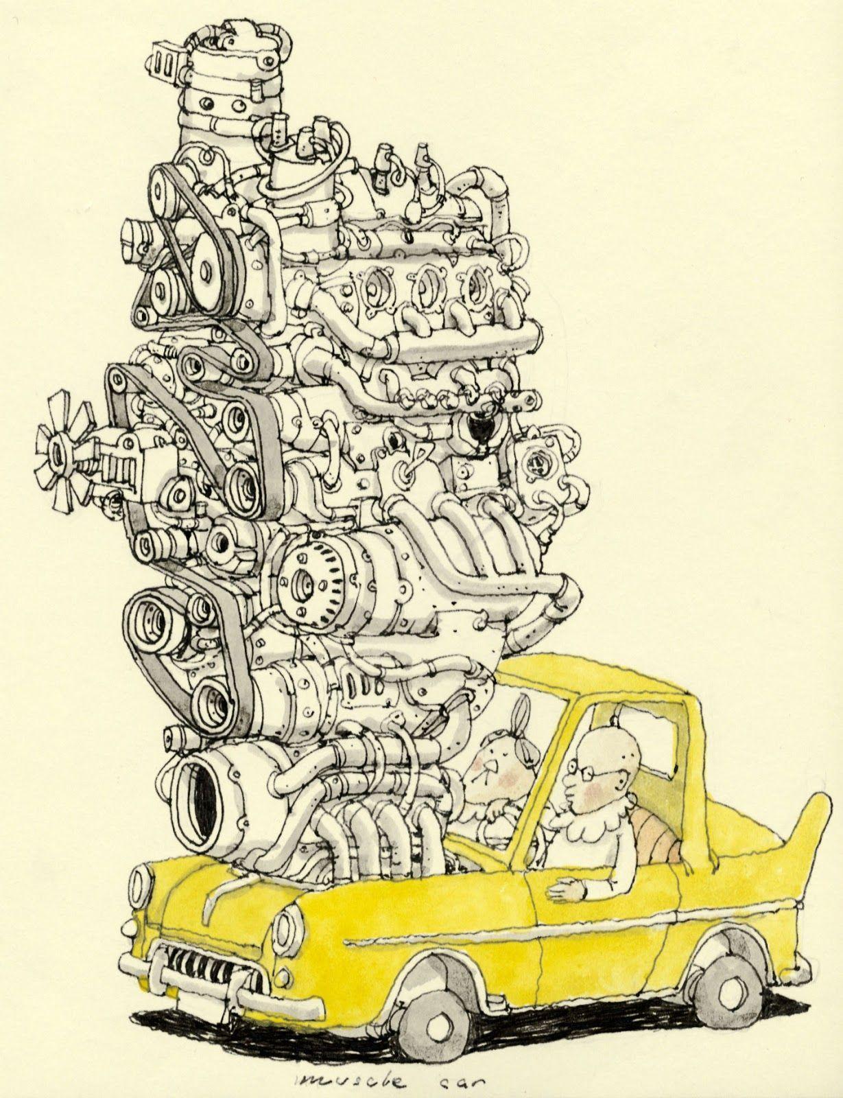 1229x1600 I Want This Muscle Car! Created By Mattias Adolfson, Mattias Inks