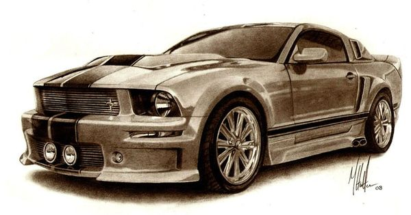 600x315 Pictures Muscle Car Sketches,