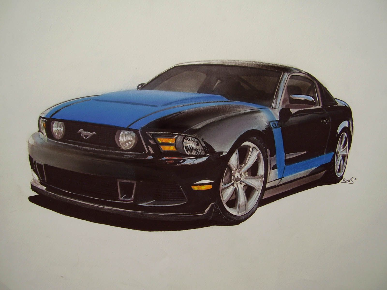 1600x1200 Colorful Pictures Of Muscle Cars Car Drawings, Illustration,