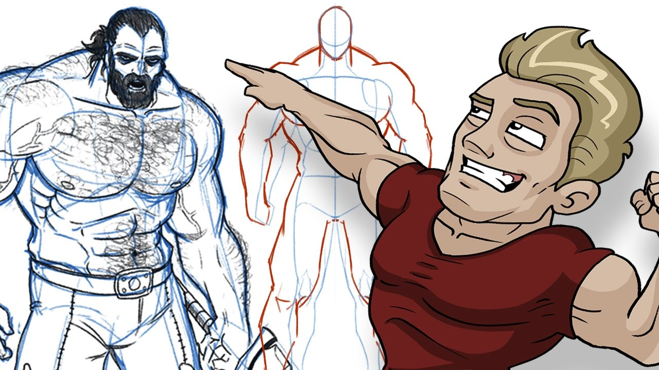 1280x720 How to Draw BIG BADASS DUDES