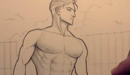 450x260 How To Draw Chest Muscles