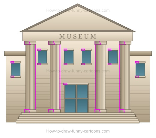520x460 How To Draw A Cartoon Museum
