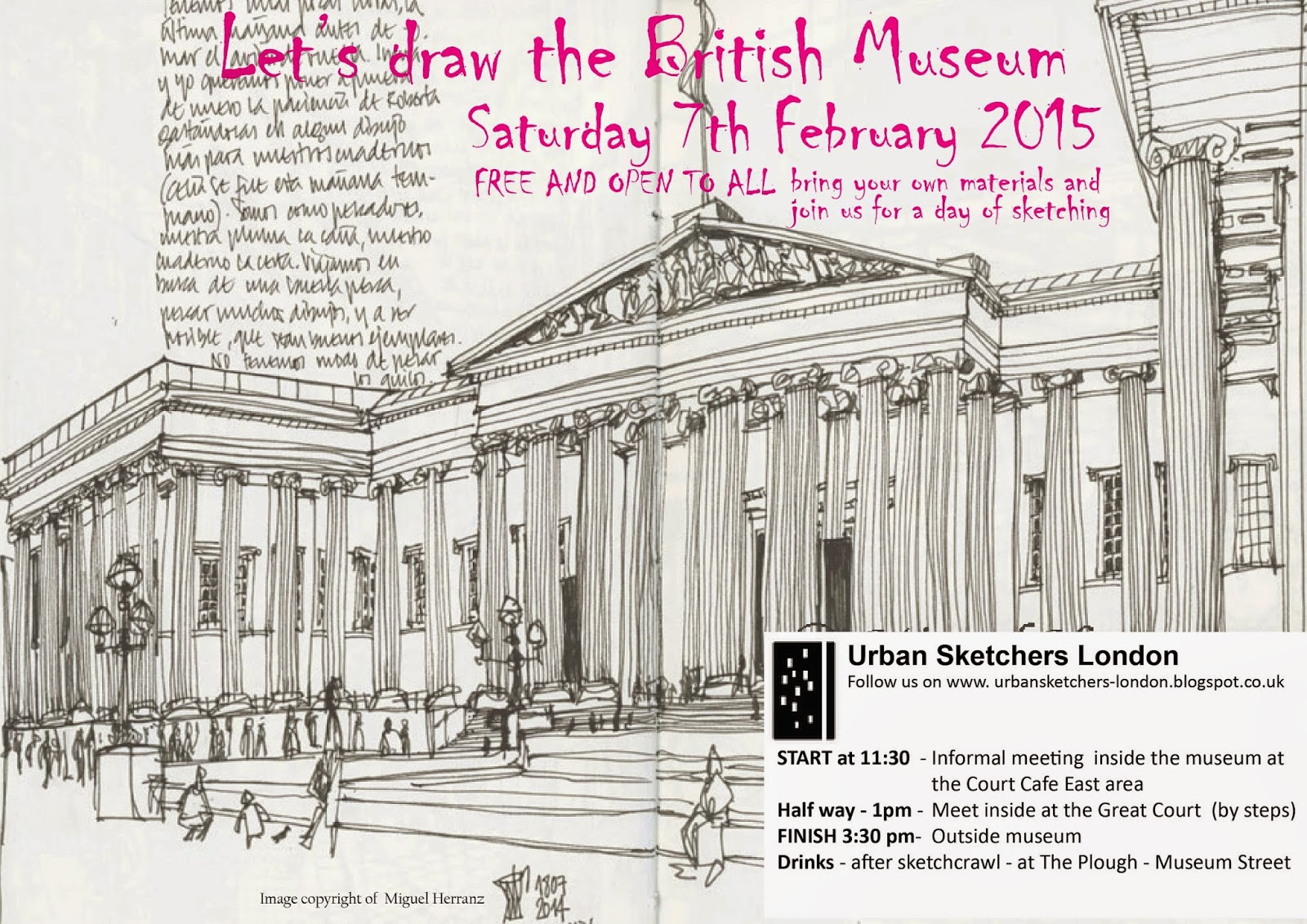 1600x1131 Urban Sketchers London Let's Draw The British Museum