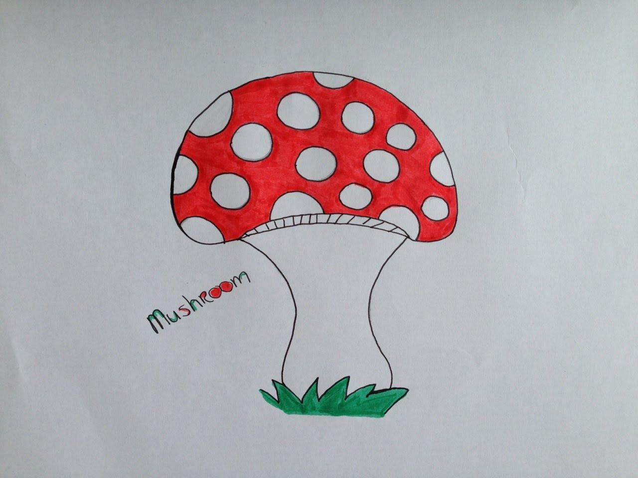 1280x960 How To Draw A Mushroom