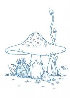 236x329 Line Art Drawing Of Different Kinds Of Mushrooms. Mushrooms