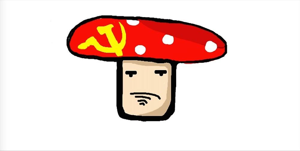 1000x502 The Communist Magic Mushroom Drawing By Poopadoop Redbubble
