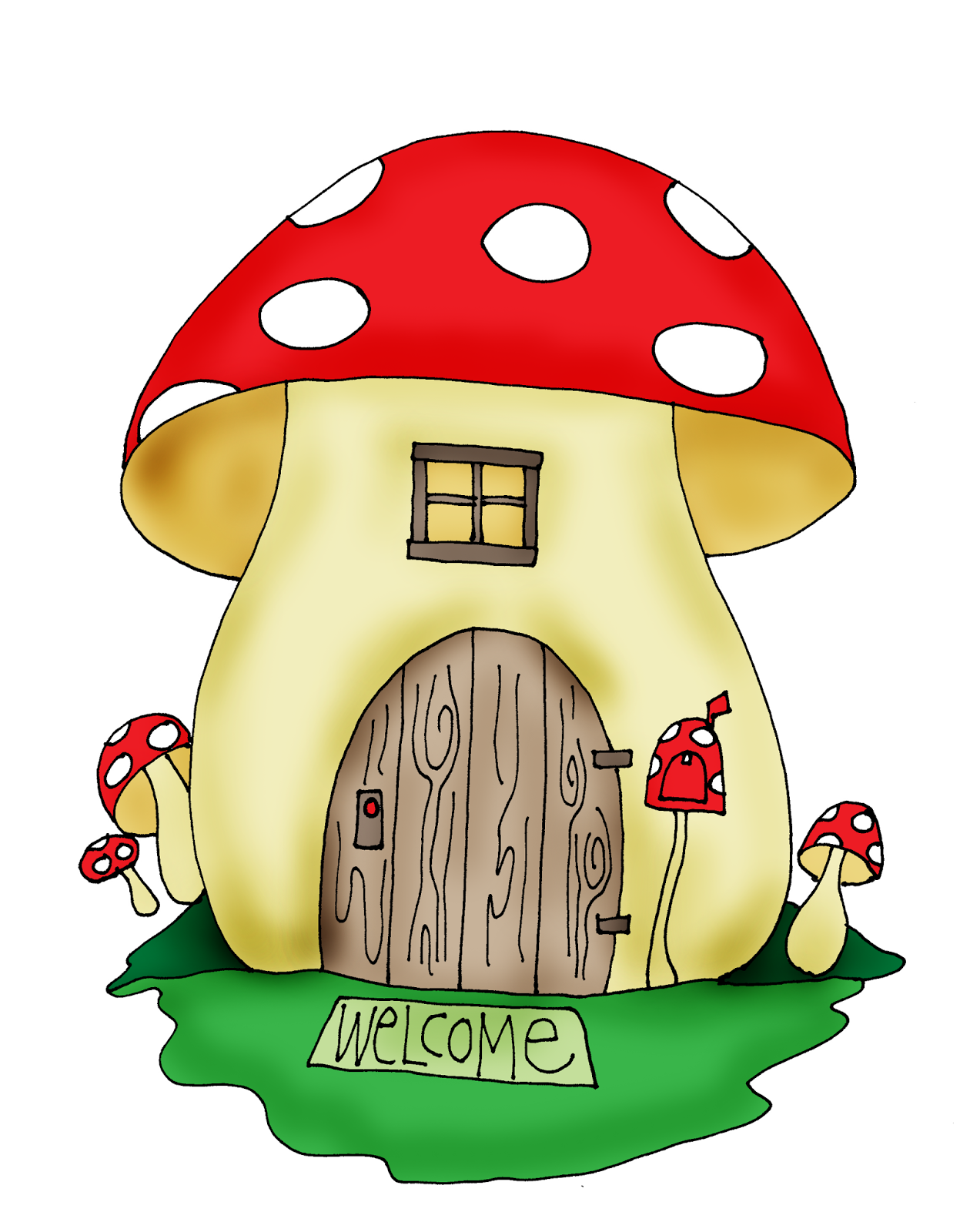 1273x1600 Free Dearie Dolls Digi Stamps Mushroom House Images To Color
