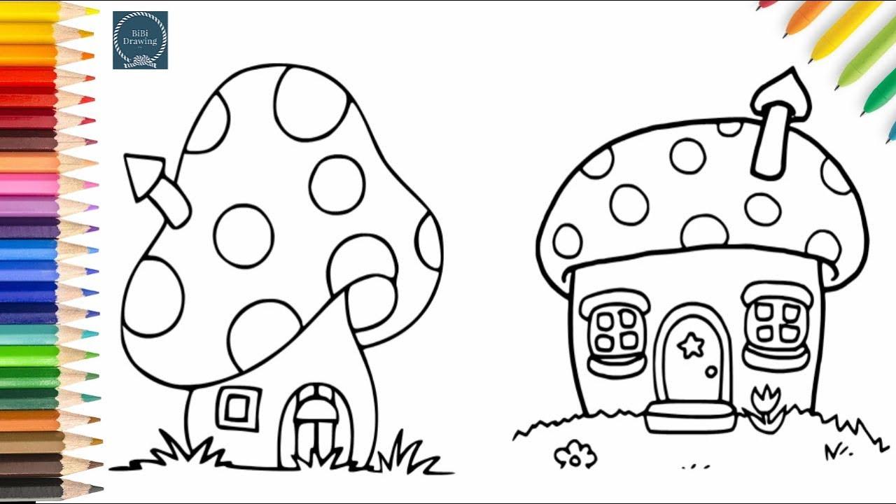 1280x720 How To Draw Mushroom House