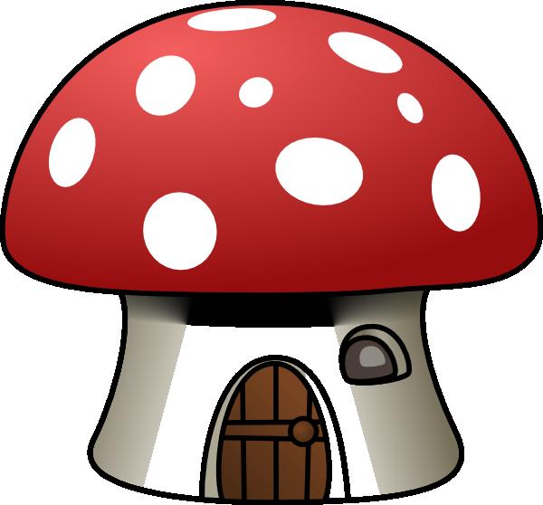 600x558 Mushroom House Clipart