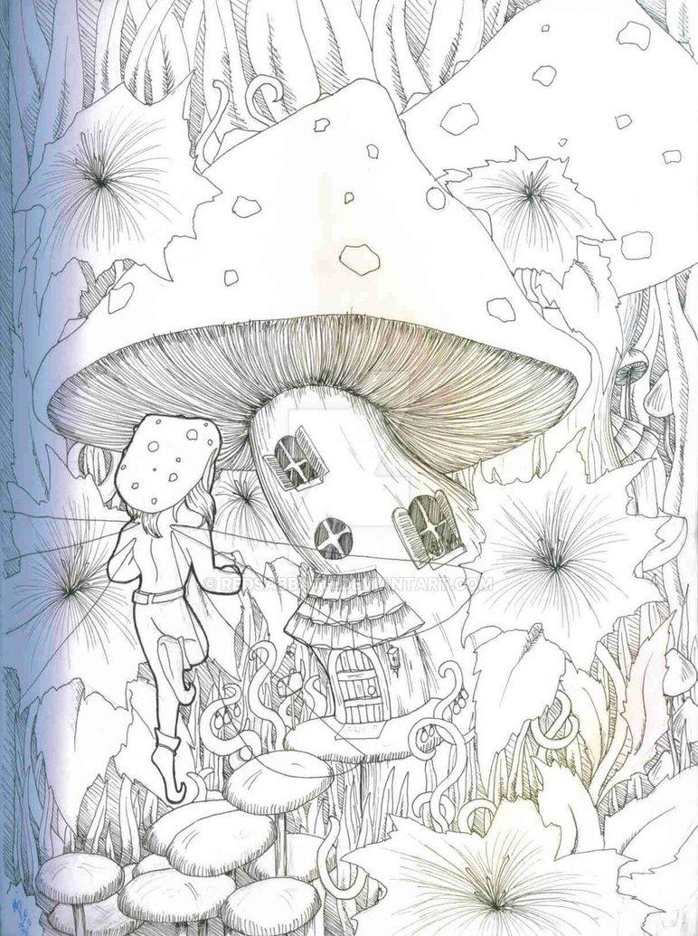 772x1035 Mushroom House By Redsabbath