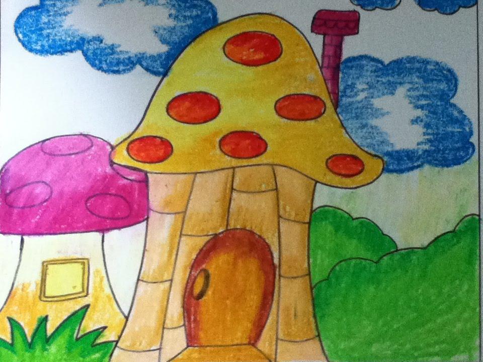 960x720 Mushroom House For Kids In Simple Steps