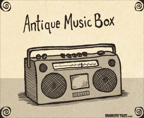 497x406 Antique Music Box