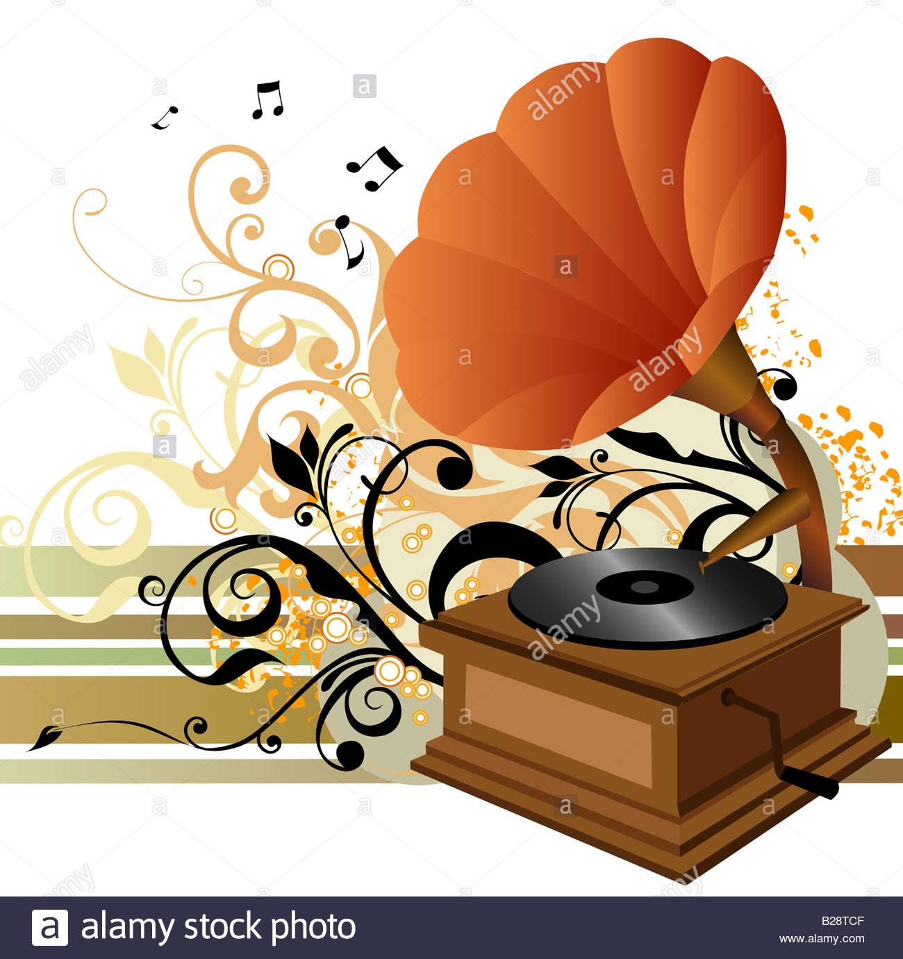 1300x1381 Illustration Drawing Of Music Box Stock Photo 18634463