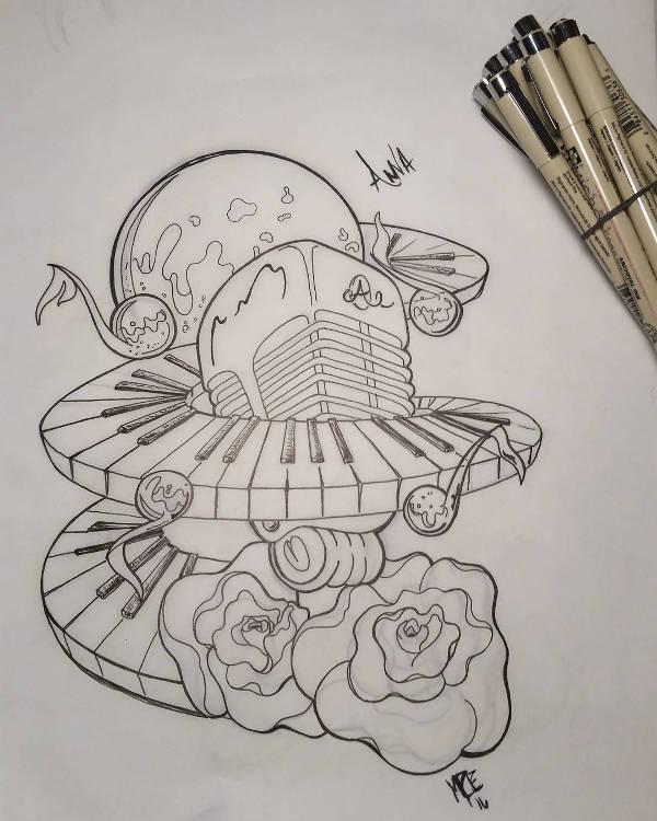 600x750 Music Drawings