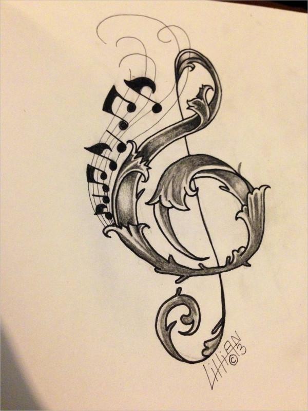 600x800 Music Drawings