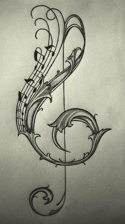 434x773 Violin Key Drawingsketch The Last Rhapsody Key