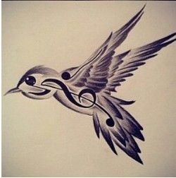 250x252 Bird Music Note Tattoo ~i Am Unbelievably Upset That I Didn'T See