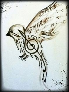 236x315 Music And Birds Amazingly Awesome Music Drawings
