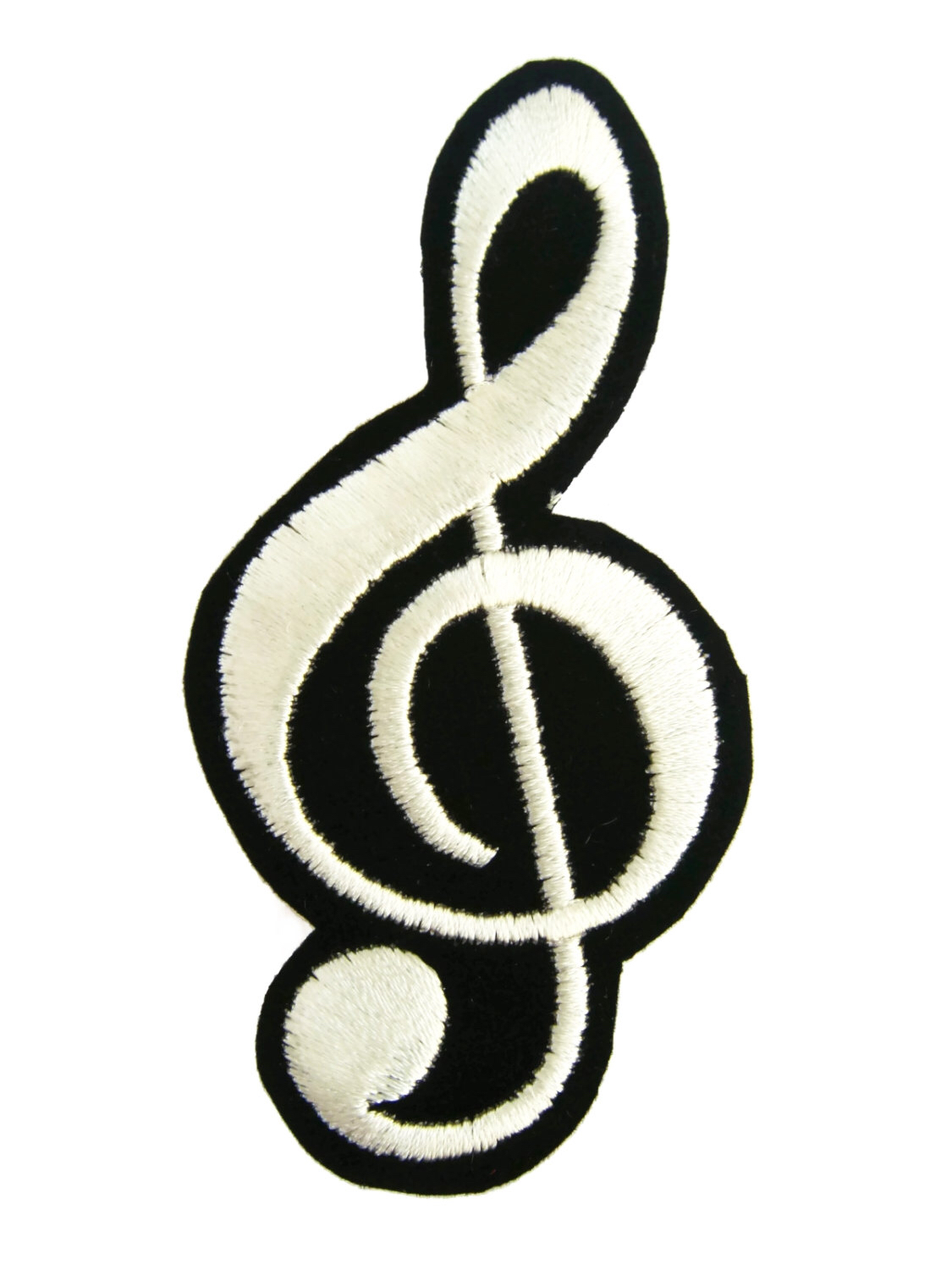 1125x1500 G Clef Music Note Symbol Embroidered Applique Iron On Patch By