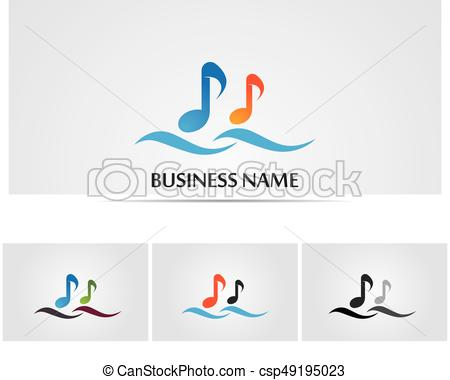 450x380 Music Note Symbols Logo And Icons Template Vector Illustration