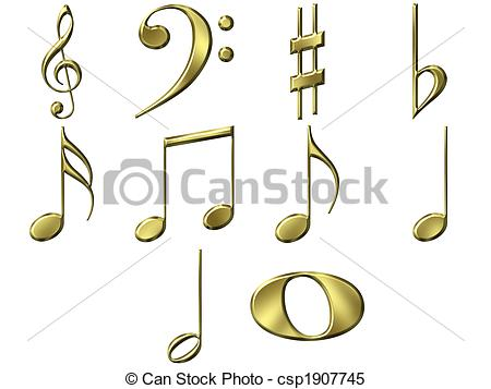 450x357 3d golden music notes isolated in white stock illustrations