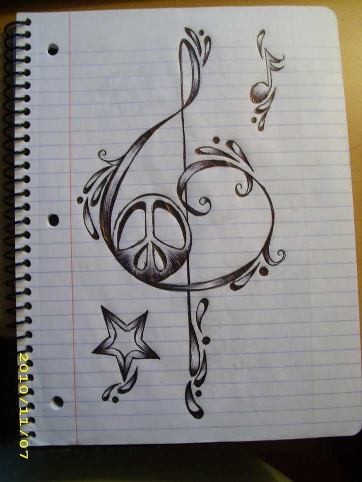 736x981 Cool Music Notes Designs To Draw Design of this music note