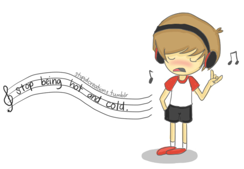 500x347 art, cute, drawing, justin bieber, music, music notes