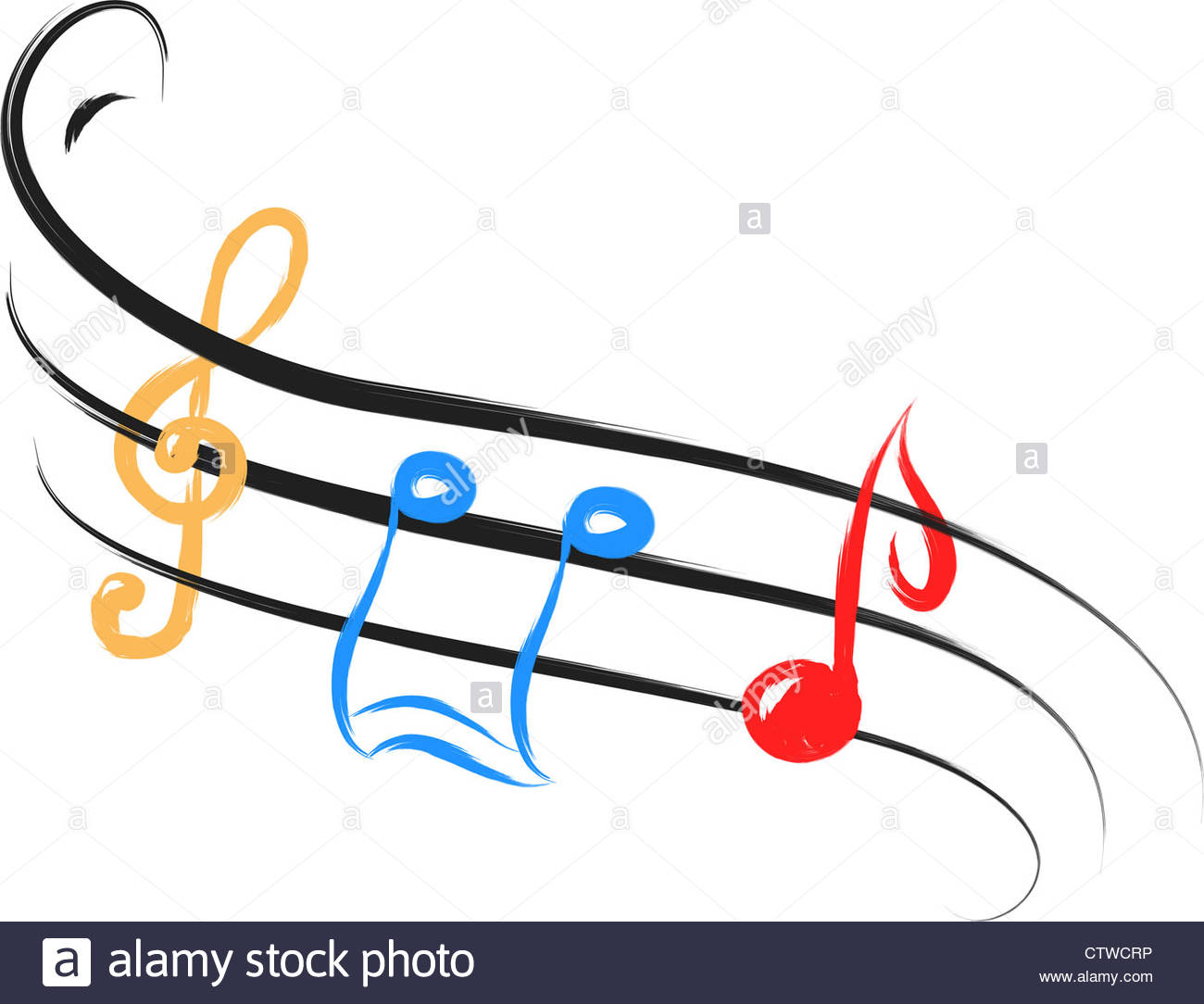 1300x1084 color music notes in abstract drawing style Stock Photo 49731354